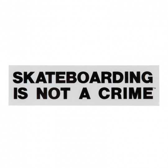 "Santa Cruz ""Skateboarding is Not a Crime"" 4.5"" Sticker"
