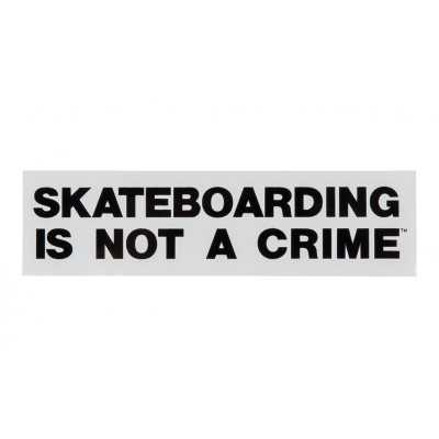 "Santa Cruz ""Skateboarding Is Not a Crime"" 4.5"" Autocollant"