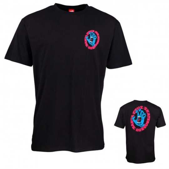 "Santa Cruz ""Screaming Tee"" Black Tee Shirt"