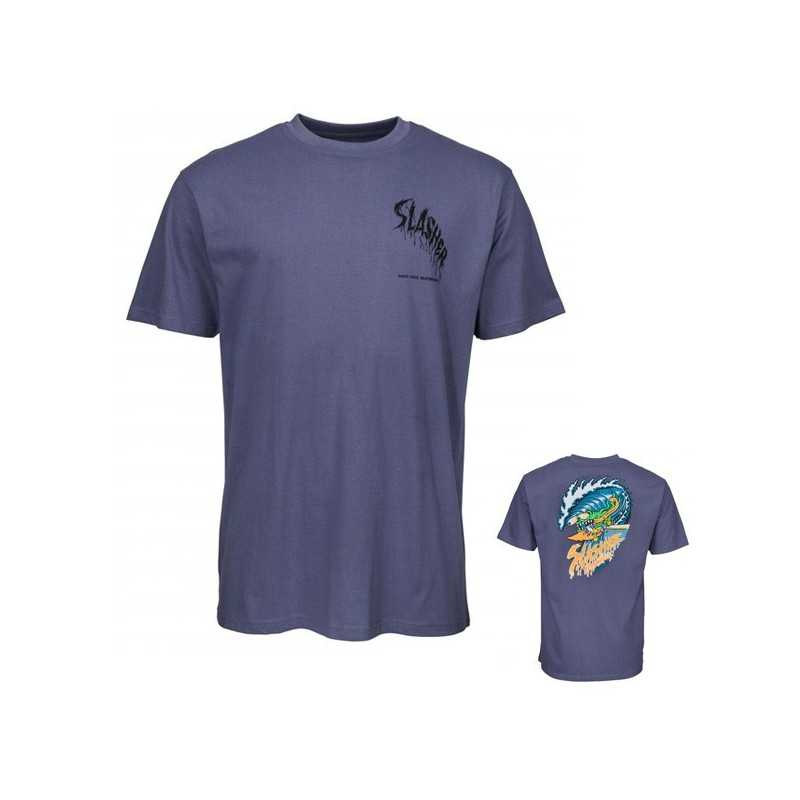 Santa Cruz Wave Slasher Vintage Navy Tee Shirt