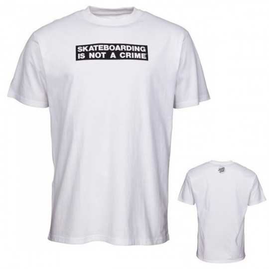 "Santa Cruz ""Not a Crime"" White Tee Shirt"