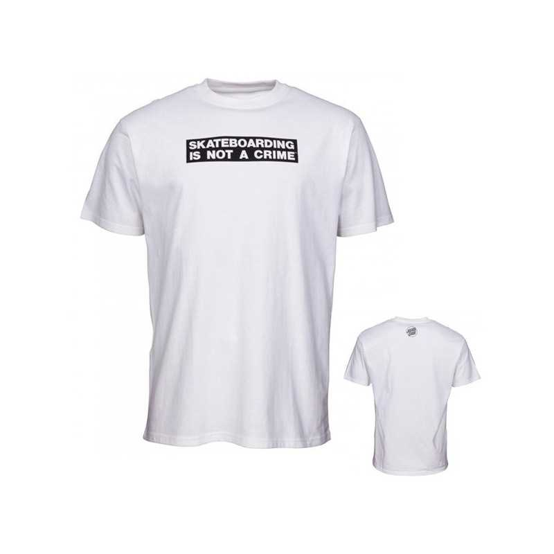 "Santa Cruz ""Not A Crime"" Blanc Tee Shirt"