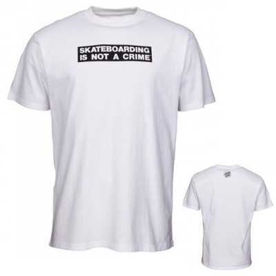 "Santa Cruz ""Not A Crime"" Blanc Tee Shirt"