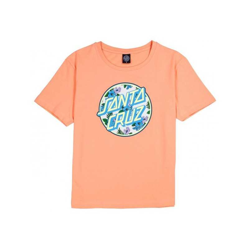 Santa Cruz Vacation Peach T-Shirt Femme