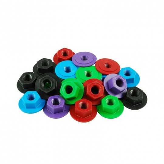 Sure-Grip Zero Nuts Ecrous Nylon Roller(Par 8)