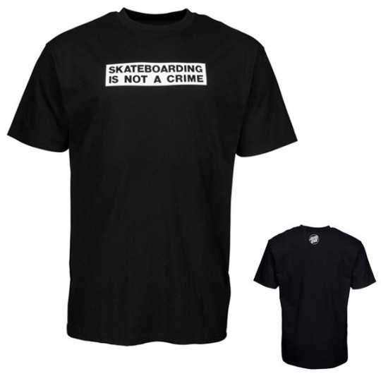 "Santa Cruz ""Not a Crime"" Black Tee Shirt"