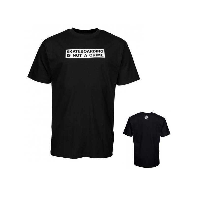 "Santa Cruz ""Not A Crime"" Noir Tee Shirt"