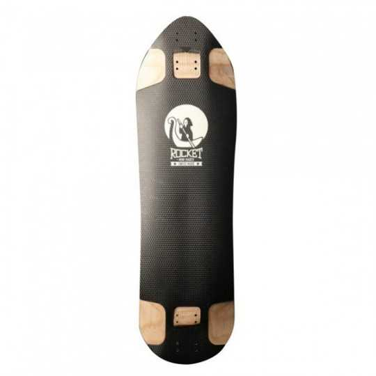 Rocket Mini Hades Black Longboard Deck