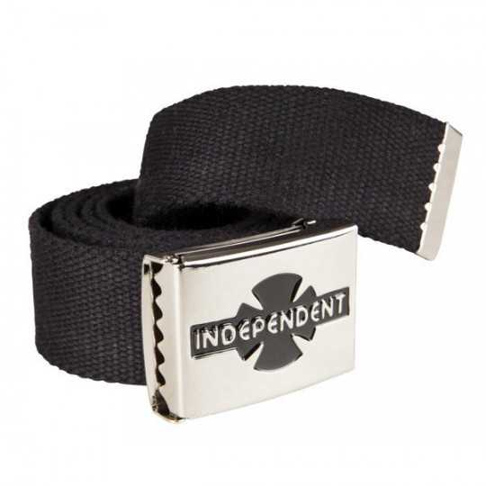 Independent Black Logo Clipped Belt