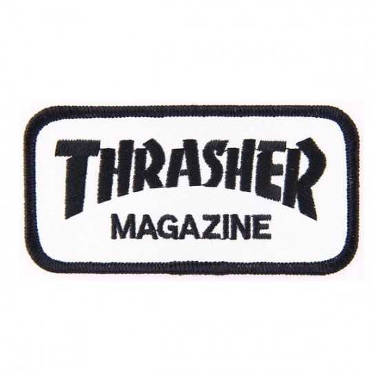 Trasher Magazine Logo White Patch 4""
