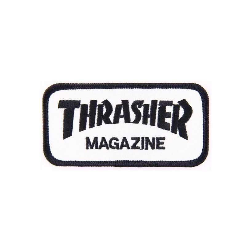 """Trasher Magazine Logo White Patch 4"""""""