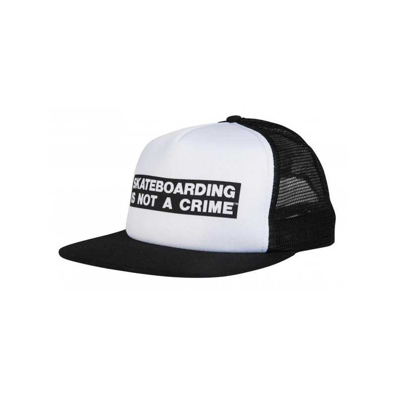 "Santa Cruz ""Not a Crime"" Black/White Cap"