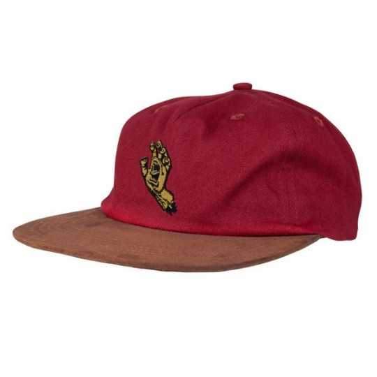 Santa Cruz Mini Screaming Hand Burgundy Casquette