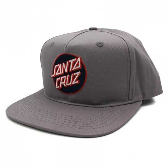 Santa Cruz Dot Logo Charcoal Casquette