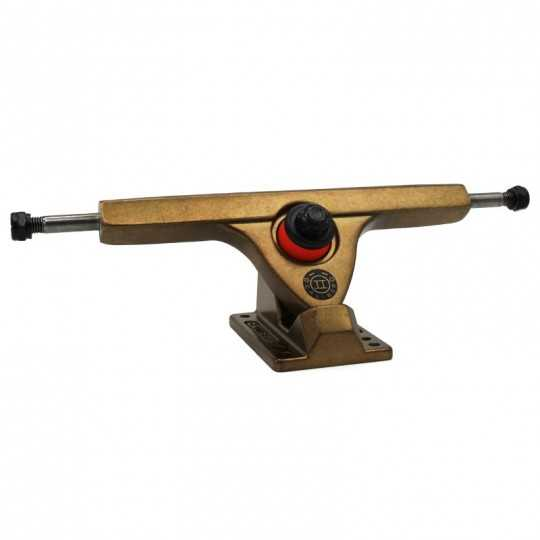 "Caliber 2 Fifty Gangster Gold 10"" Single longboard truck"