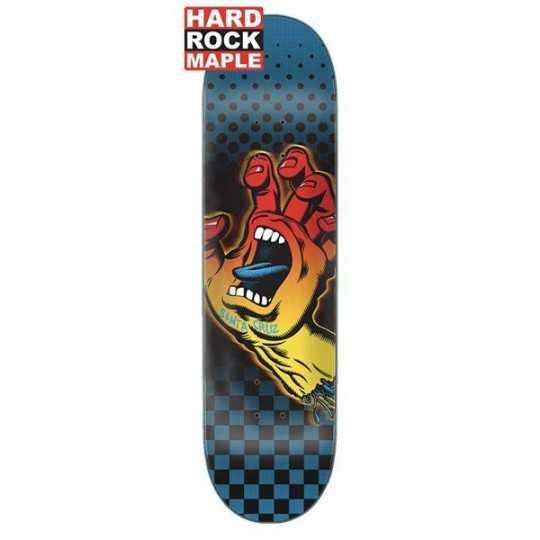 """Santa Cruz Aura hand 8.125"""" Plateau Skateboard"""