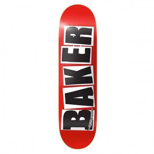 "Baker Brand Logo 7.88"" Red/Black Plateau Skateboard"