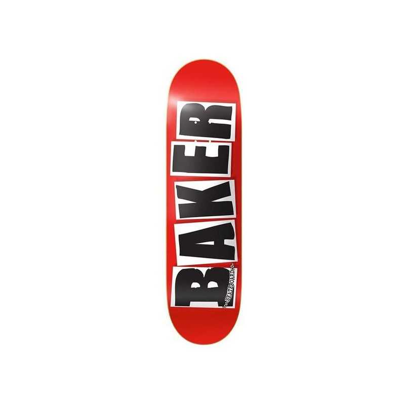 """Baker Brand Logo 7.88"""" Red/Black Skateboard Deck"""
