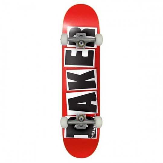 "Baker Brand Logo 7.88"" Red/Black Skateboard Complet"