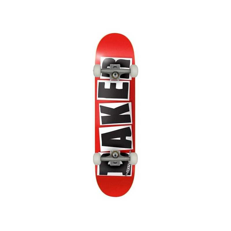 """Baker Brand Logo 7.88"""" Red/Black Complete Skateboard"""
