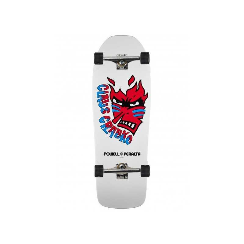 "Powell Peralta Grabke Flame Face 10.25"" White Complete Skateboard"