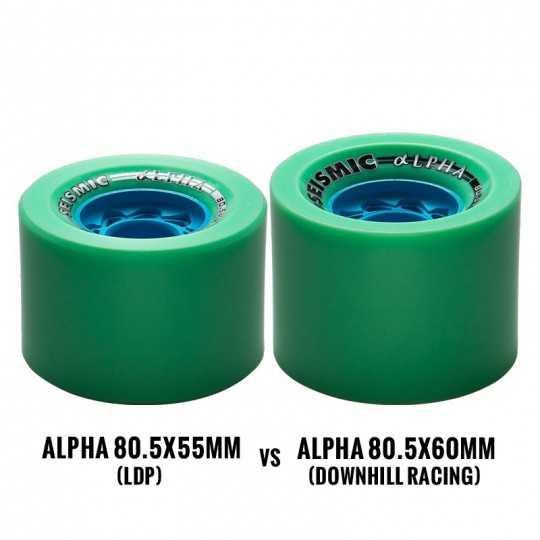 Seismic Alpha Defcon 80.5mm DH Longboard Wheels