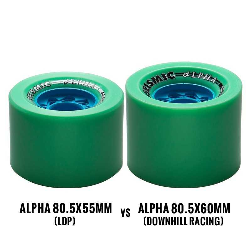 Seismic Alpha Defcon 80.5mm LDP Roues Longboard