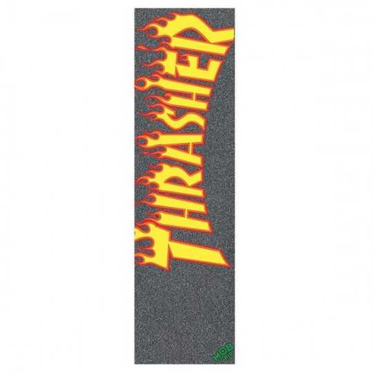 "MOB Trasher Flame logo 9""(Plaque) Grip Skateboard"
