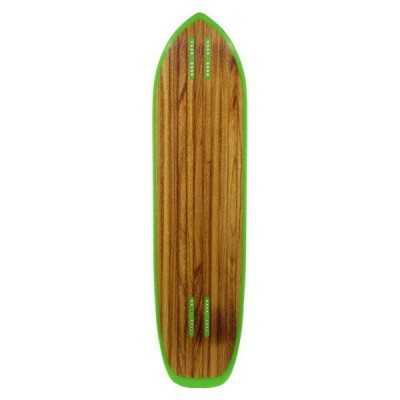 Moonshine Outlaw Black/Green Longboard Deck
