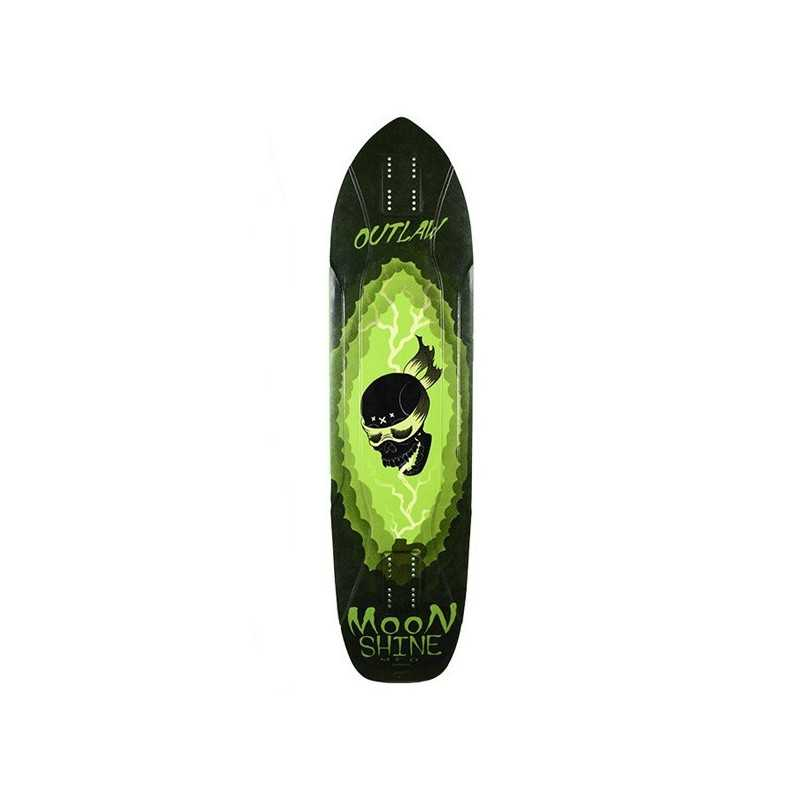 Moonshine Outlaw Black/Green Longboard Deck