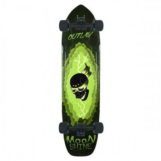 Moonshine Outlaw Black/Green Longboard Complet