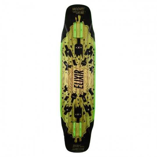 Moonshine Elixir Black/Green Longboard Deck