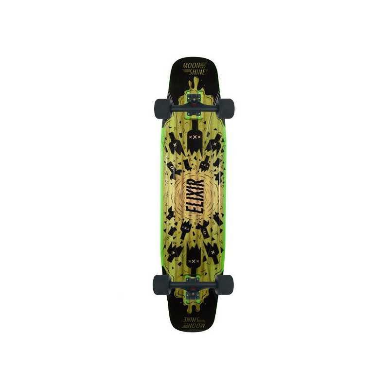 Moonshine Elixir Black/Green Complete Longboard