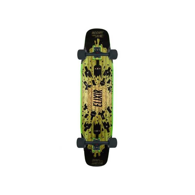 Moonshine Elixir Black/Green Longboard Complet