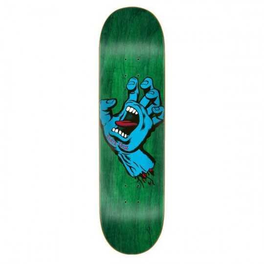 "Santa Cruz Screaming Hand 7.75"" Green Plateau Skateboard"
