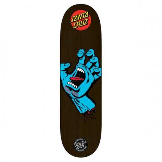"Santa Cruz Screaming Hand 8.125"" Black Plateau Skateboard"