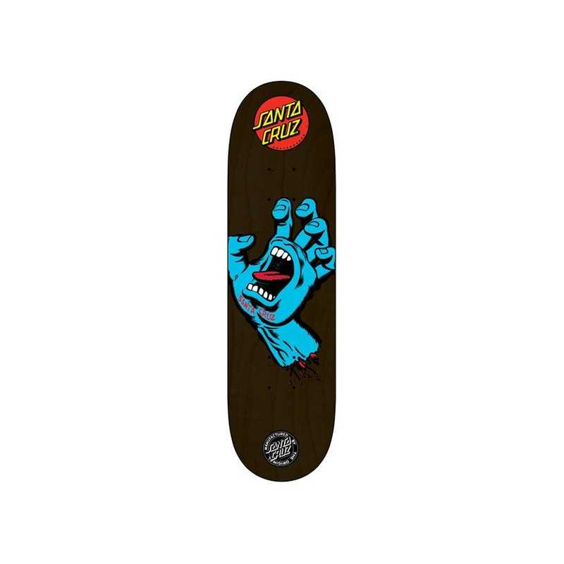 "Santa Cruz Screaming Hand 8.125"" Black Plateau Skateboard"