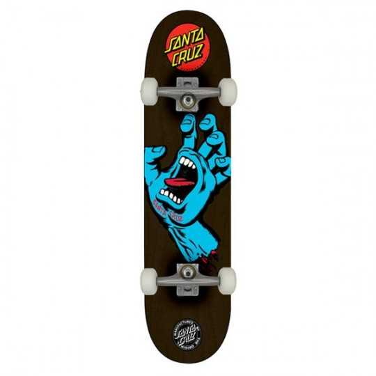 "Santa Cruz Screaming Hand 8.125"" Black Skateboard Complet"