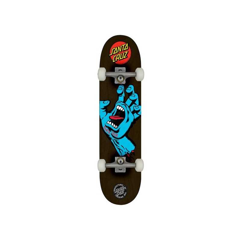 "Santa Cruz Screaming Hand 8.125"" Black Complete Skateboard"