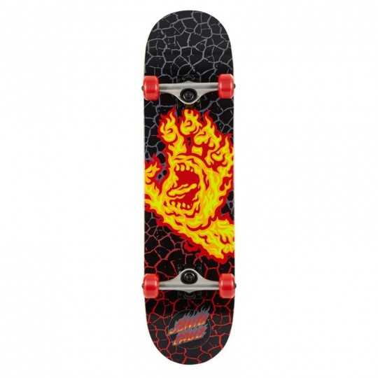 "Santa Cruz Flame Hand 8"" MC Complete Skateboard"