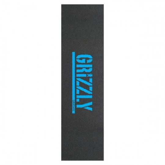 "Grizzly Stamp Blue 9""x33"" Skateboard Griptape"