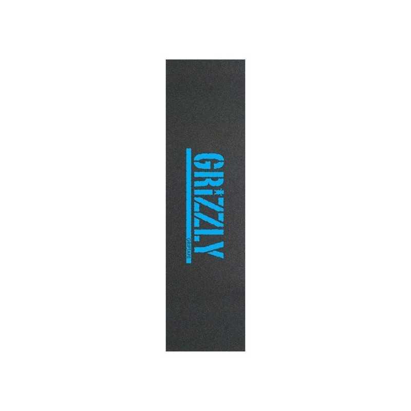 "Grizzly Stamp Blue 9""x33"" Skateboard Griptape"