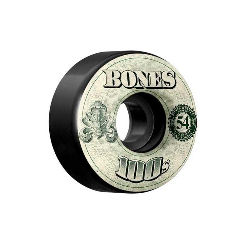 Bones 100's V4 54mm Black N°11 Roues Skateboard