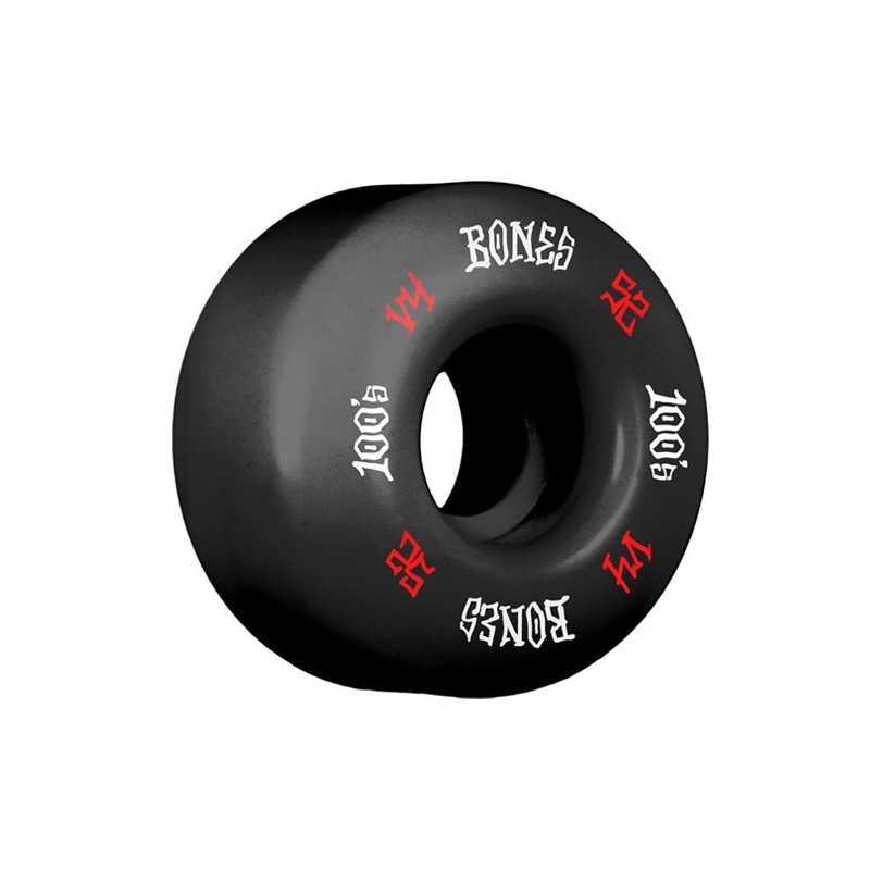 Bones 100's V4 52mm Black N°12 Skateboard Wheels