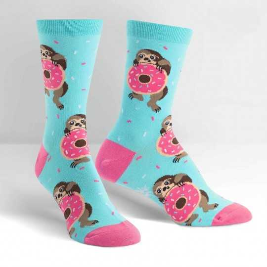 "Sock It To Me ""Snackin' Sloth"" Women's Crew Socks"
