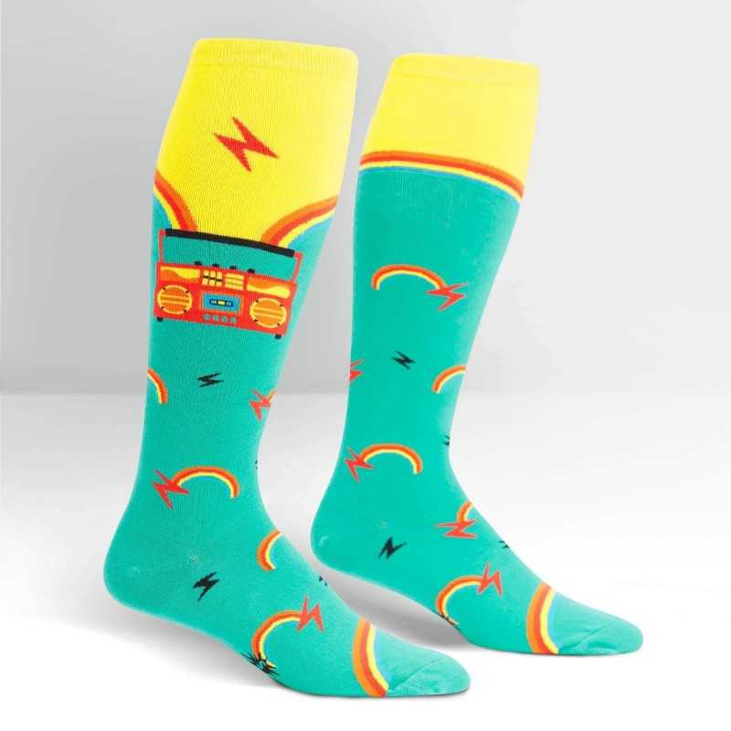 "Sock It To Me ""Roller Disco"" Knee-high Stretch-It Socks"