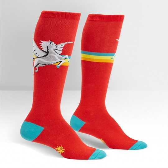 "Sock It To Me ""Retro Pegasus"" Knee-high Stretch-It Socks"