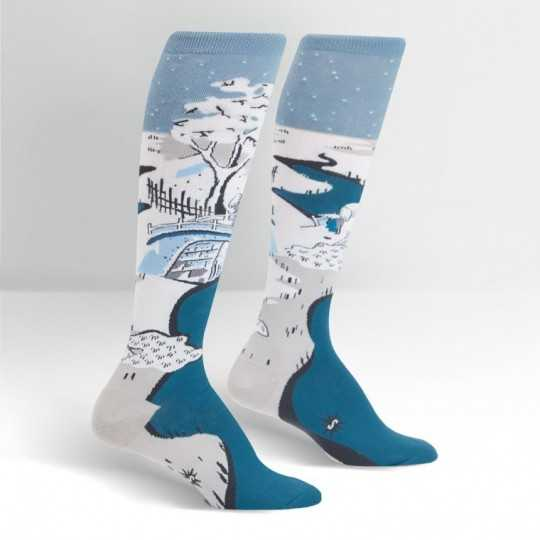 "Sock It To Me ""Meguro Drum Bridge"" Knee-high Socks"