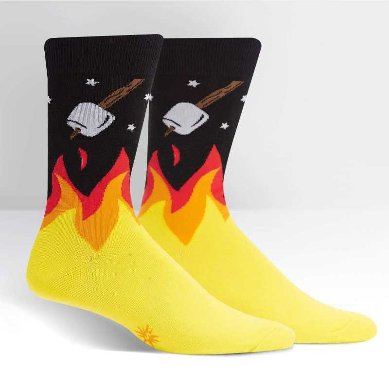 "Sock It To Me ""S'More to Love"" Men's Crew Socks"