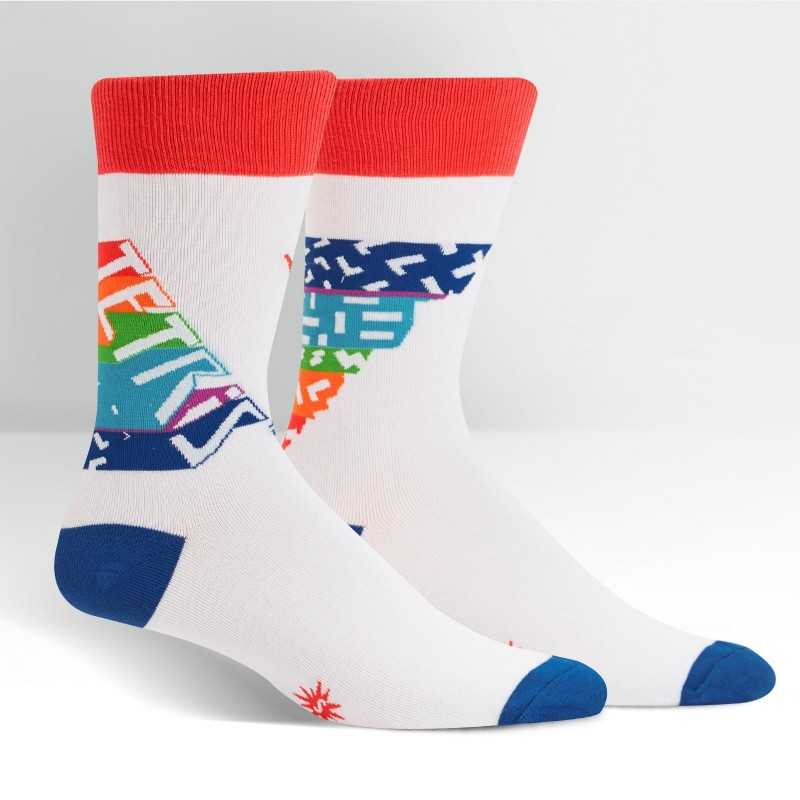 "Sock It To Me ""Tetris Retro Logo"" Men's Crew Socks"